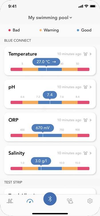 Check water quality via app