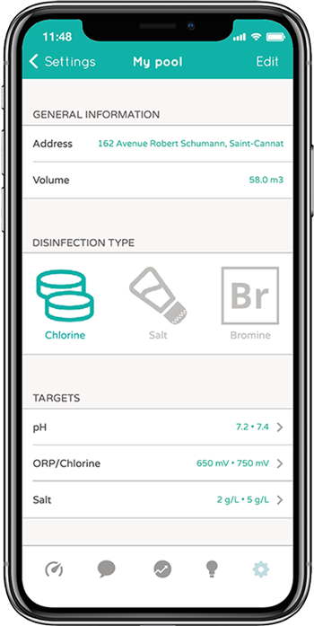 The ICO app provides recommendations for action to improve water quality.