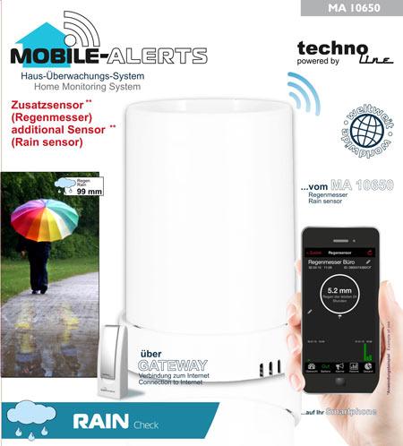 Smarter Regensensor Mobile Alerts