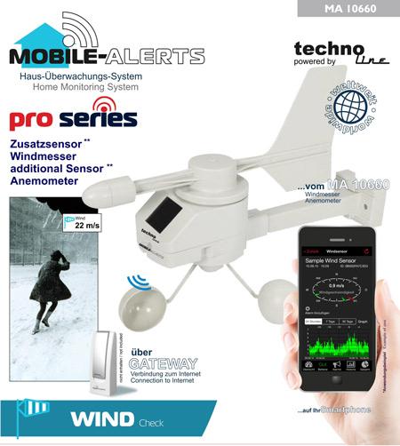 Medición del viento con aplicación para smartphone