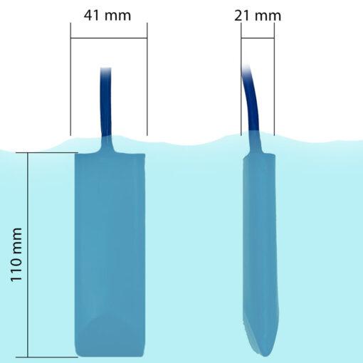 Smart Skimmer Poolthermometer – Netatmo Modifikation - Abmessungen